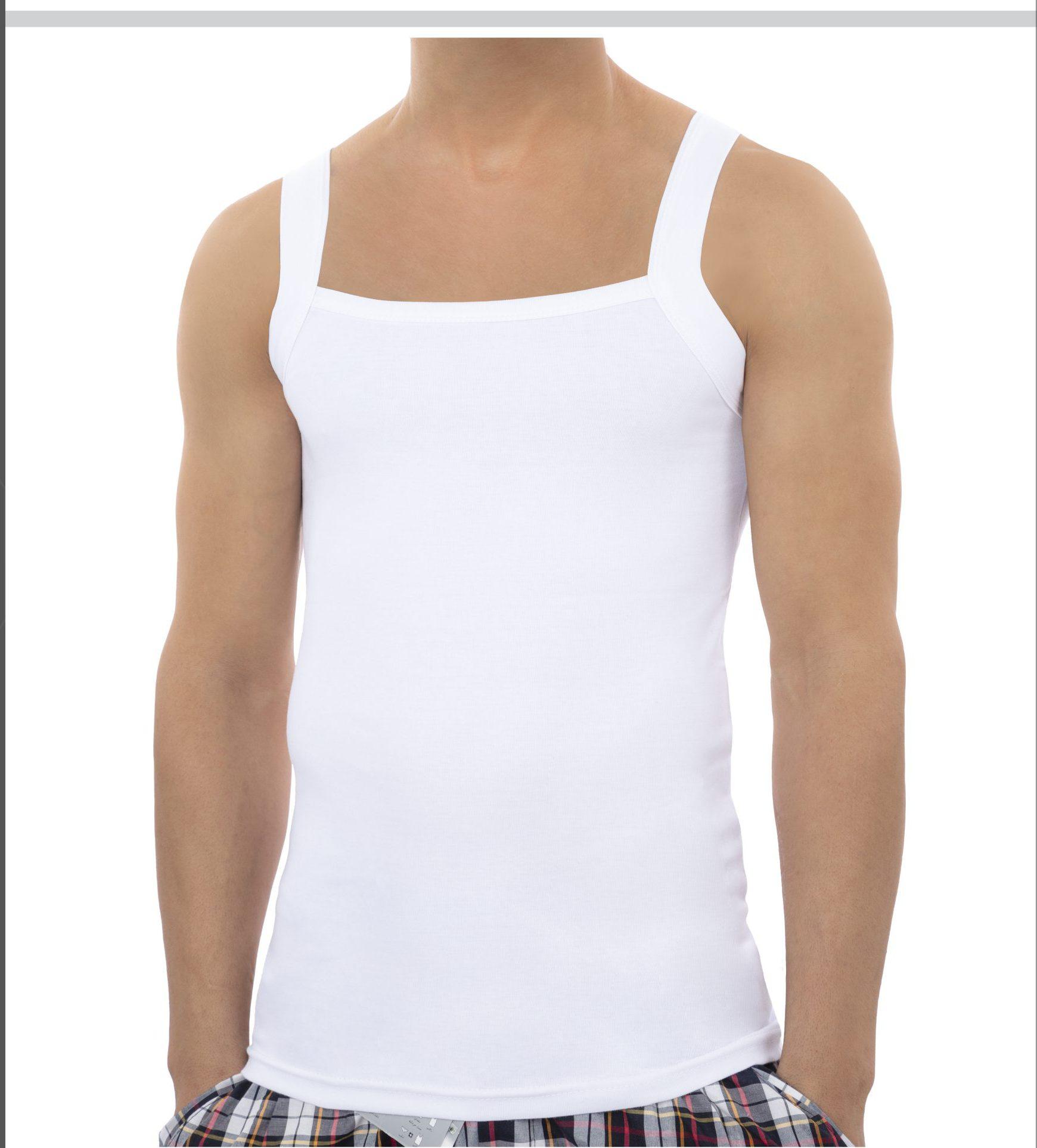 زیرپوش یقه خشتی مردانه