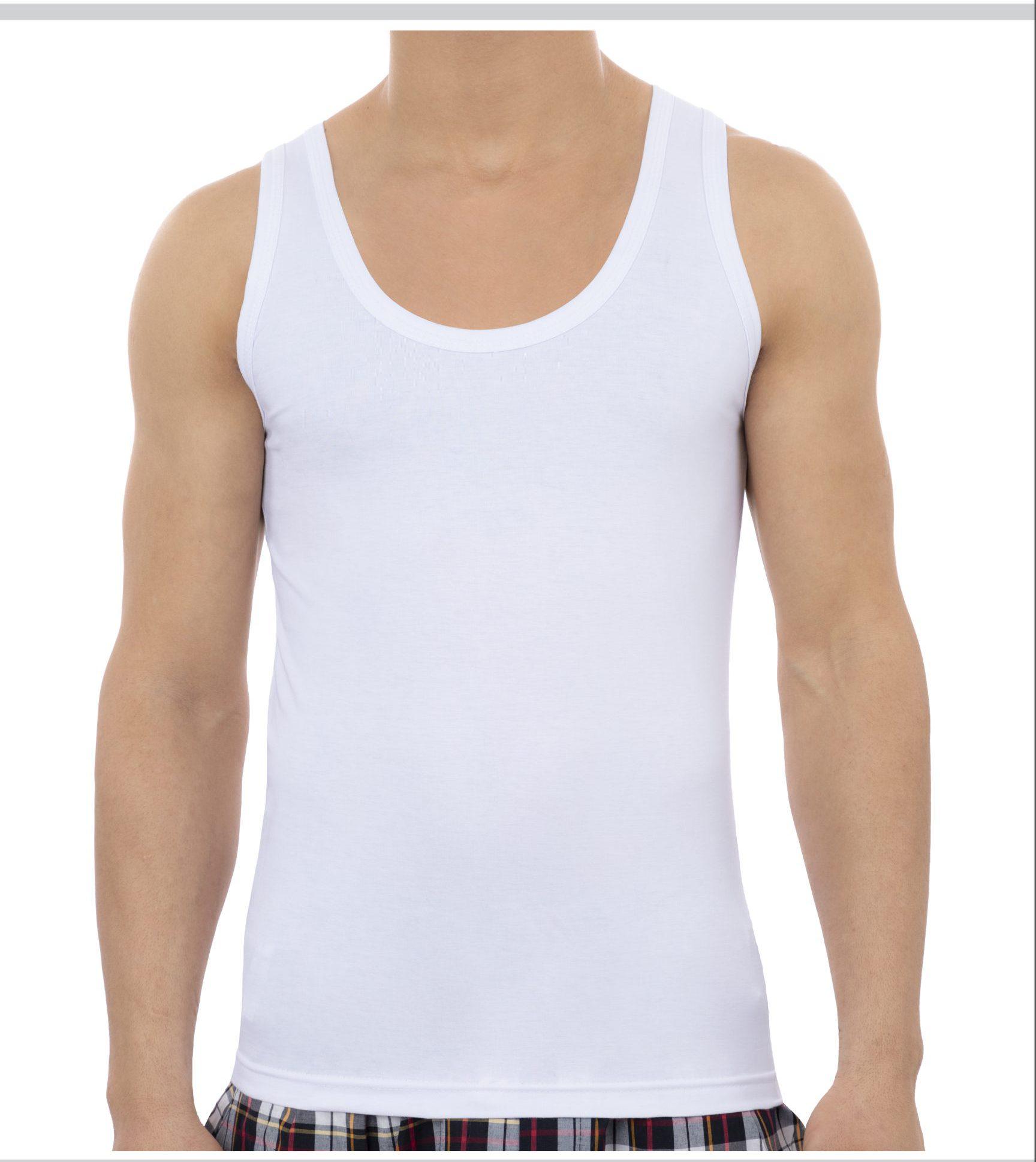 زیرپوش رکابی سفید مردانه