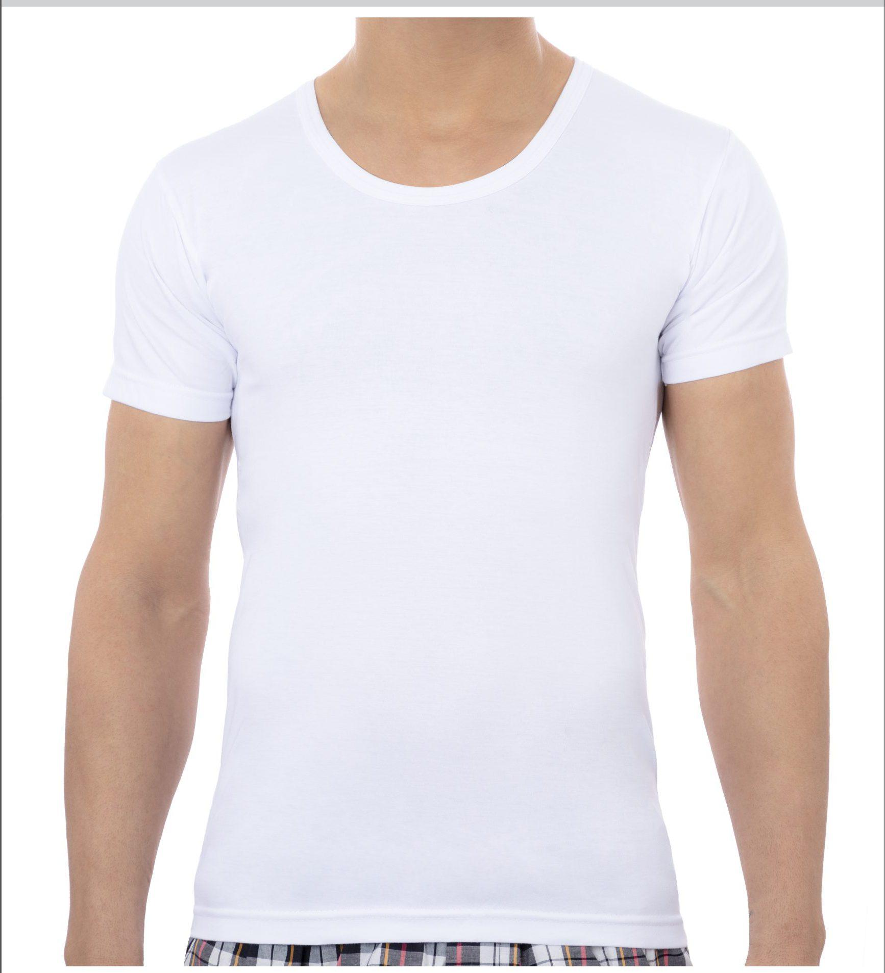 زیرپوش نیم استین مردانه سفید