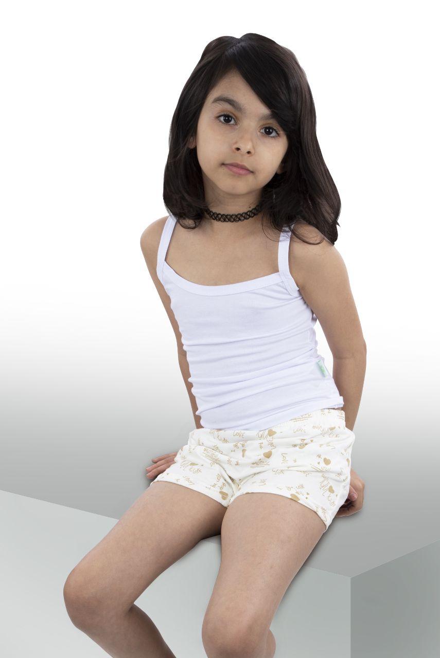 زیرپوش یقه خشتی دخترانه